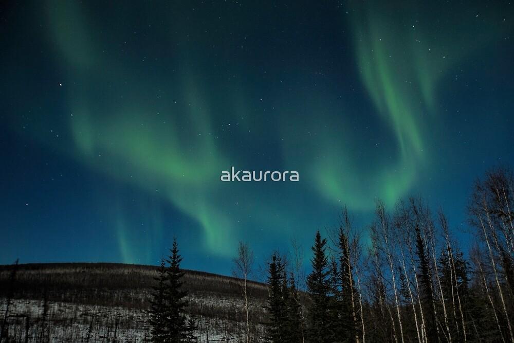 Hilltop Aurora by akaurora