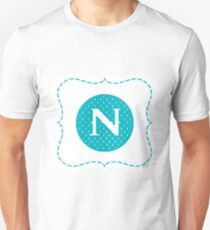 Striped Letter N Unisex T-Shirt