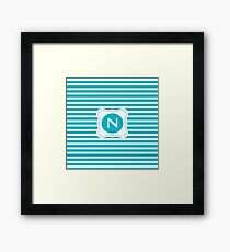 Striped Letter N Framed Print