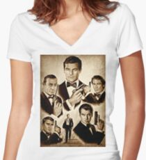 Licence to kill Women's Fitted V-Neck T-Shirt