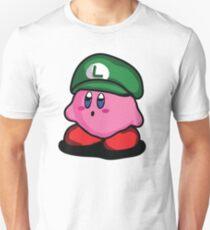 Kirby with Luigi Hat Fanart T-Shirt