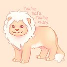 """""""You're Safe,  You're Okay"""" Pastel Lion by thelatestkate"""