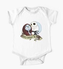 Jake and Sally Nightmare Before Christmas Love Short Sleeve Baby One-Piece