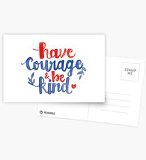 Have Courage & Be Kind Calligraphy Postcards
