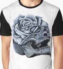 Skull Rose Morph Graphic T-Shirt