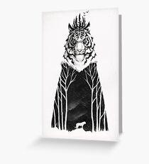 The Siberian King Greeting Card
