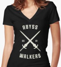 ABYSS WALKER Women's Fitted V-Neck T-Shirt