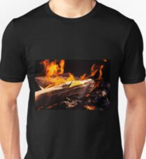 Burning Fire With Wood Unisex T-Shirt