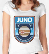 Camiseta entallada de cuello ancho Logotipo de JUNO New Frontiers