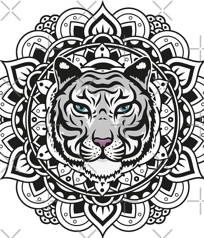 Minifaldas tigre blanco de mandala de marcocapra89 - Mandalas de tigres ...