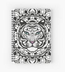 Mandala white tiger Spiral Notebook