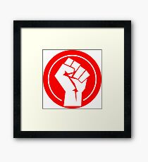 Clenched Fist Red Logo Framed Print