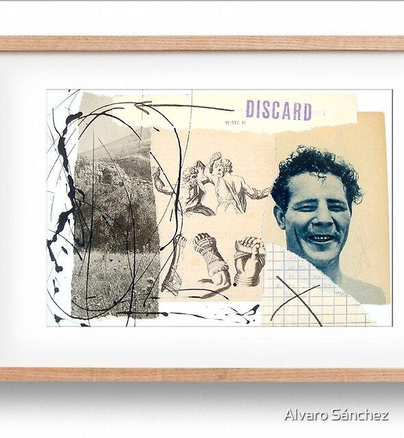 """De la serie: HEROES DESCARTADOS (discarded heroes series) 10"""" x 7"""" inches  by Alvaro Sánchez"""