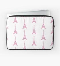 Pink Eiffel Tower Laptop Sleeve