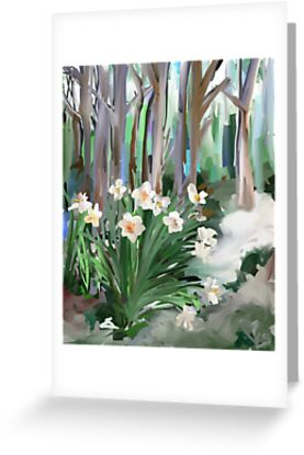 Narcissus in the Forest by Trisha Clarkin