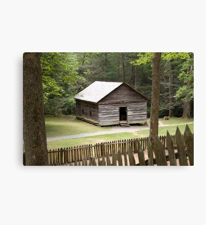 Little Greenbrier School  Canvas Print
