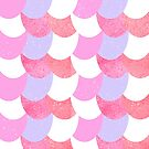 Mermaid Scales Pink/Purple/White by Jessica Slater