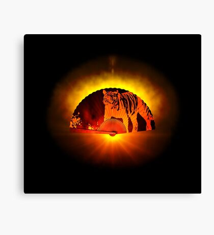 Asian subjects; Motive: Tiger Canvas Print