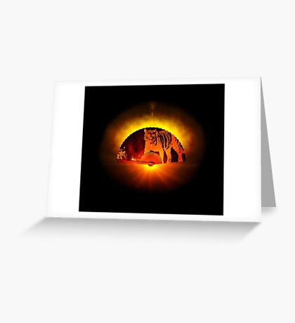 Asian subjects; Motive: Tiger Greeting Card