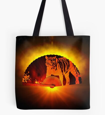 Asian subjects; Motive: Tiger Tote Bag