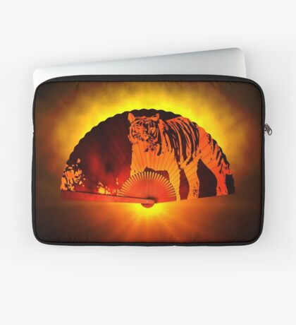 Asian subjects; Motive: Tiger Laptop Sleeve