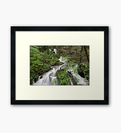Wet Weather Cascades II Framed Print