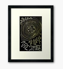 Ride It Out - Black Framed Print
