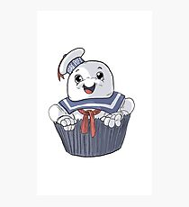 Stay Puft Cupcake Photographic Print