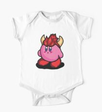 Kirby with Bowser Hat Fanart Kids Clothes