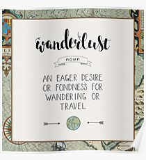 Wanderlust Definition Poster