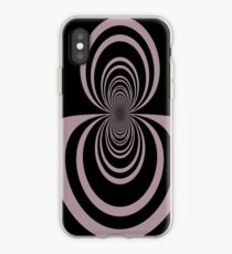 Black lavender mirror image abstract     iPhone Case