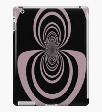 Black lavender mirror image abstract     iPad Case/Skin