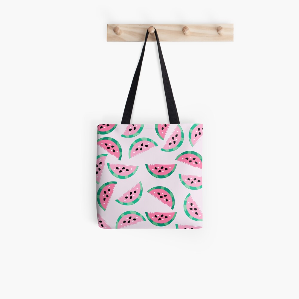 Watermelon Vibrant and Pastel Pattern Tote Bag