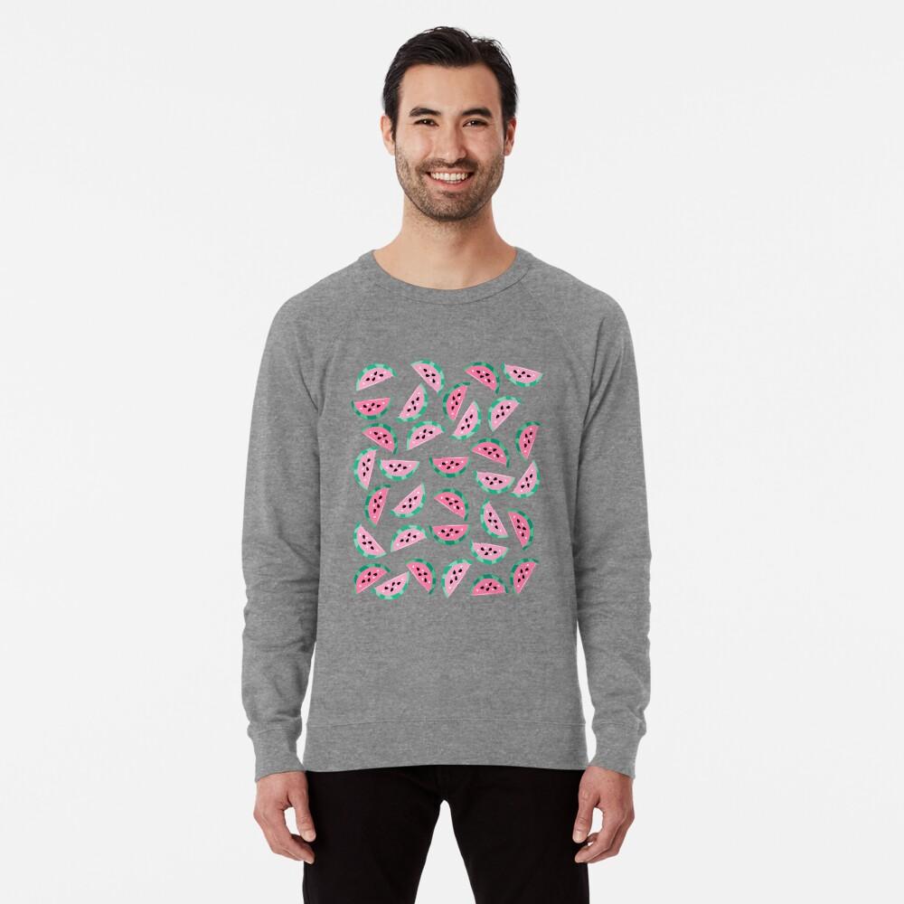 Watermelon Vibrant and Pastel Pattern Lightweight Sweatshirt