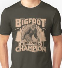 Bigfoot - Hide & Seek Champion Unisex T-Shirt