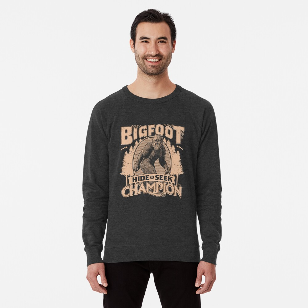 Bigfoot - Hide & Seek Champion Lightweight Sweatshirt