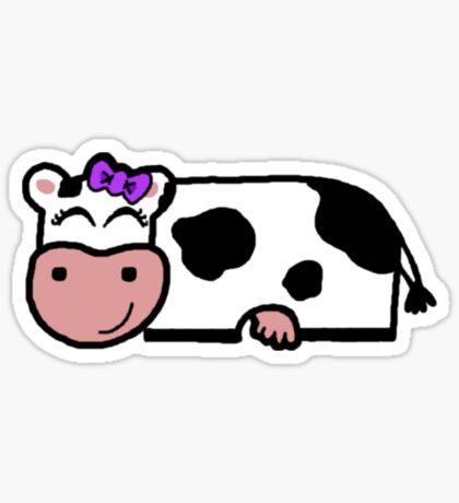 Linda vaca Pegatina