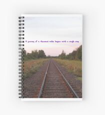 Railway Journey Inspiration  Spiral Notebook