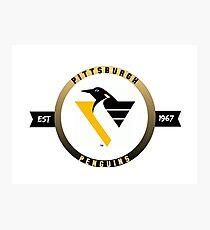 Pittsburgh Penguins vintage logo (est. 1967) Photographic Print