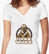 Wookie Cookie Parody Women's Fitted V-Neck T-Shirt