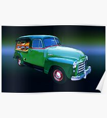 1949 GMC Canopy Truck Poster