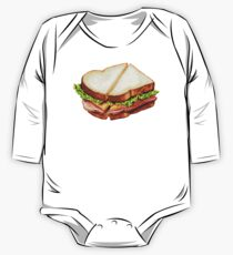 Ham Sandwich Pattern One Piece - Long Sleeve