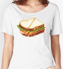 Ham Sandwich Pattern Women's Relaxed Fit T-Shirt