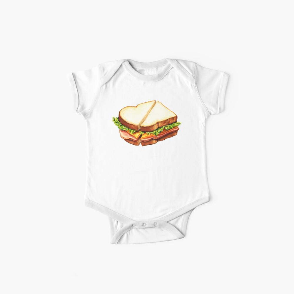 Ham Sandwich Pattern Baby One-Piece