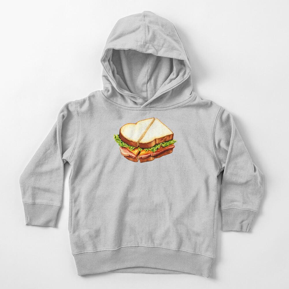 Ham Sandwich Pattern Toddler Pullover Hoodie