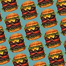 Double Cheeseburger Pattern by Kelly  Gilleran