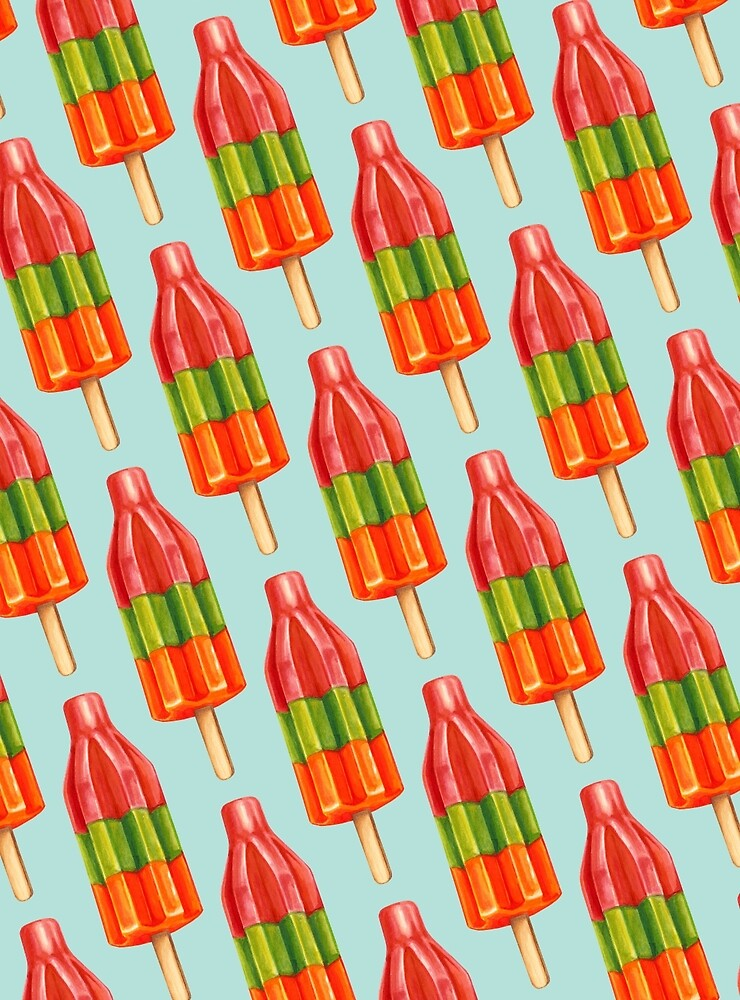 Spicy Bomb Popsicle Pattern by Kelly  Gilleran