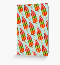 Spicy Bomb Popsicle Pattern Greeting Card