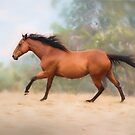 Galloping Thoroughbred Horse by Michelle Wrighton