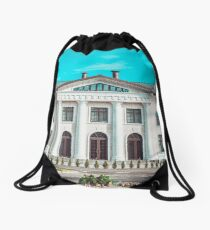 Beautiful white house in the park Drawstring Bag